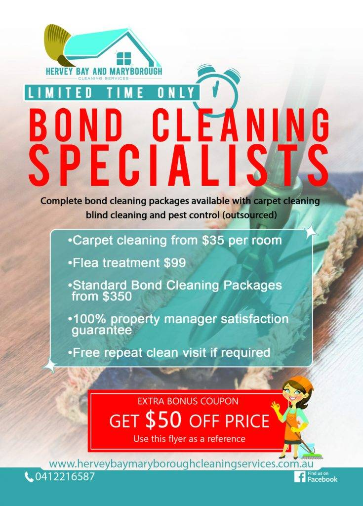 Bond Cleaning Services in Hervey Bay & Maryborough
