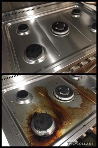 Stove Top Cleaning - Before/After